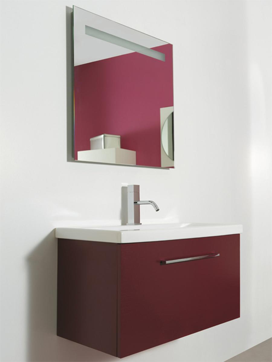 Mobile sospeso con lavabo 80x39x44h cm - Lavabo sospeso con mobile ...