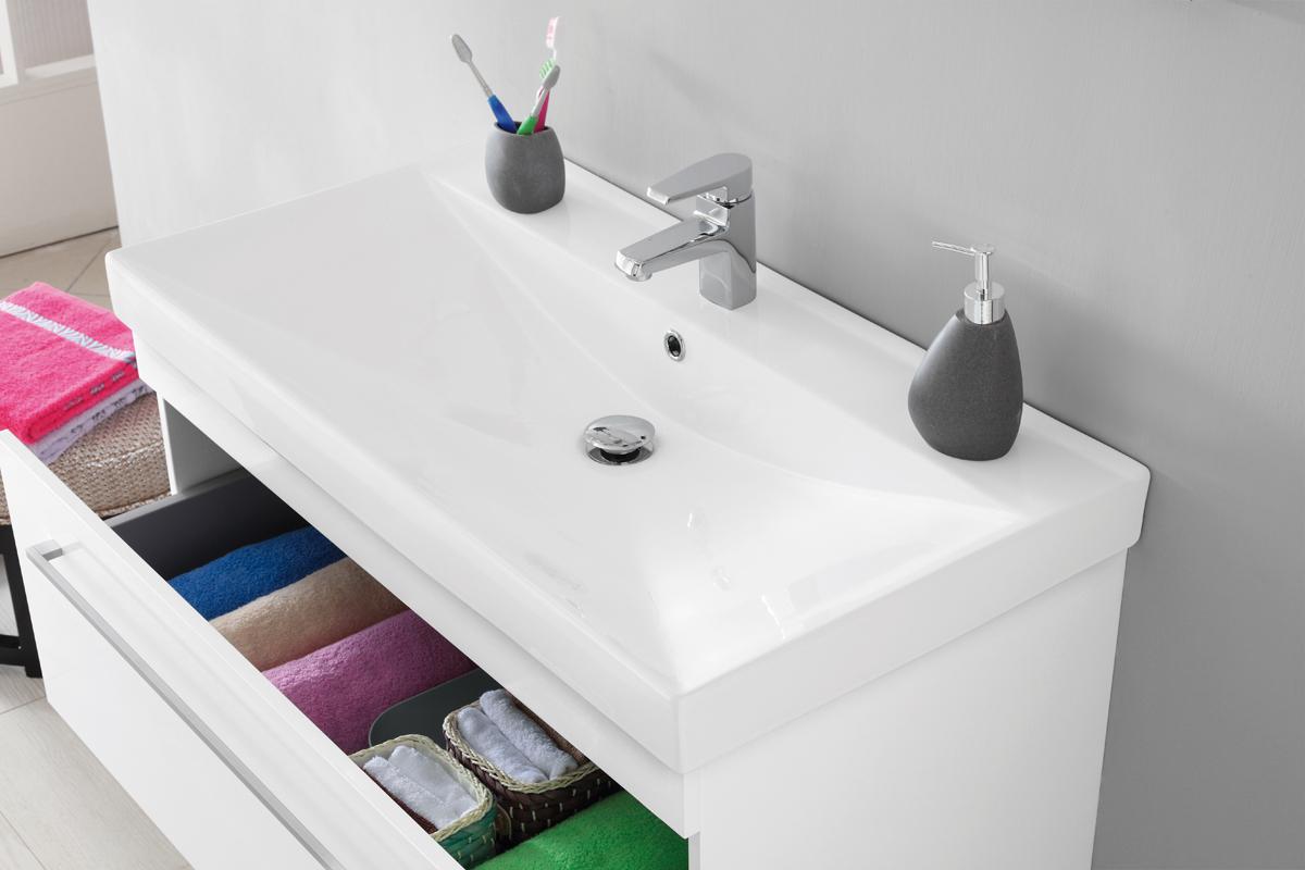 Mobile bagno laccato bianco con specchio - Mobile bagno con specchio ...