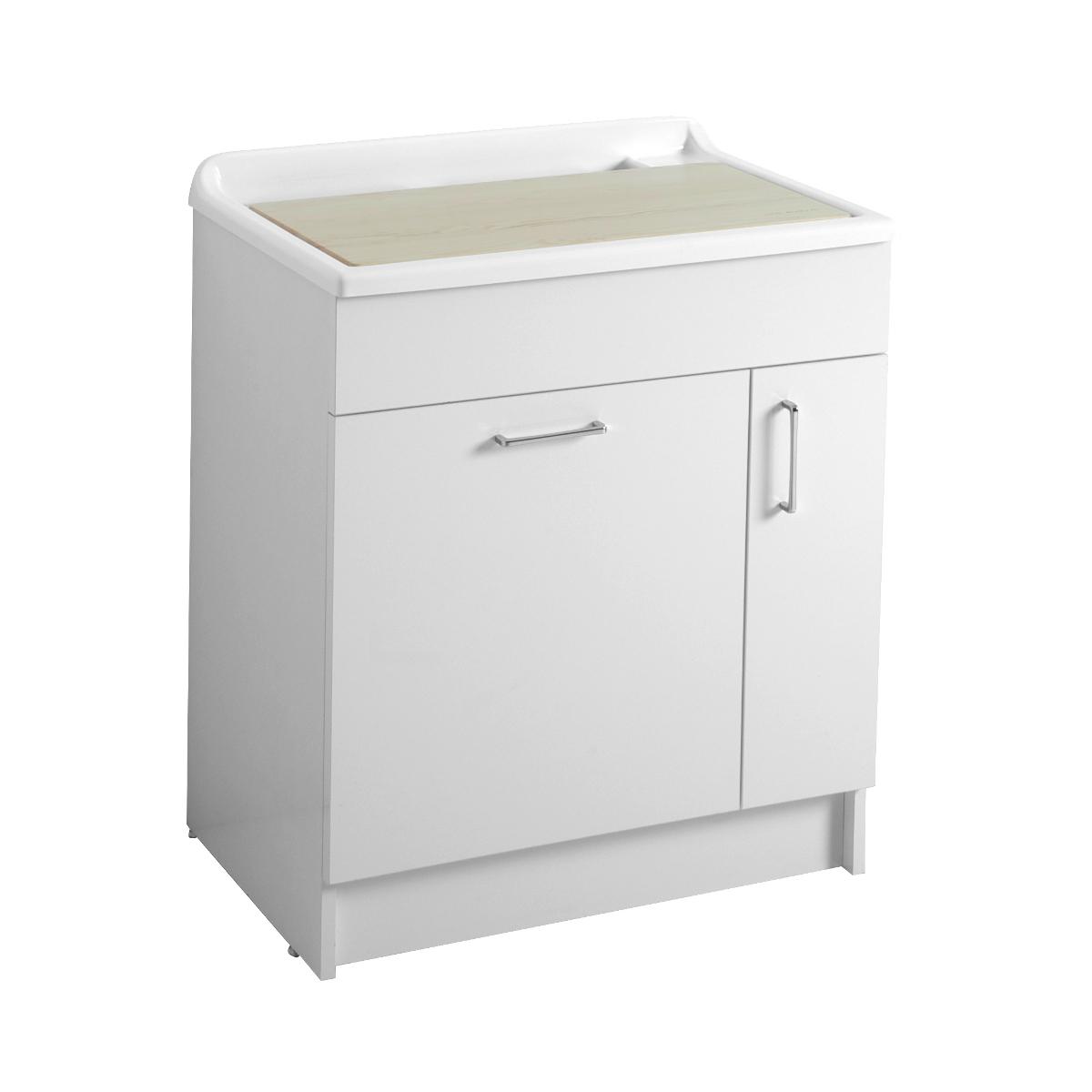 Mobile con cesto portabiancheria e lavabo 75x50x86 lindo max - Mobile bagno con portabiancheria ...