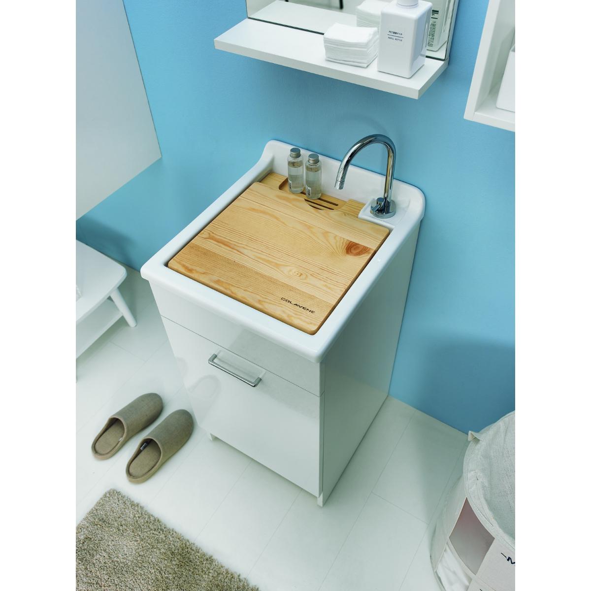 Mobile con sportello e lavabo 45x50x86h jollywash for Lavabo con mobile