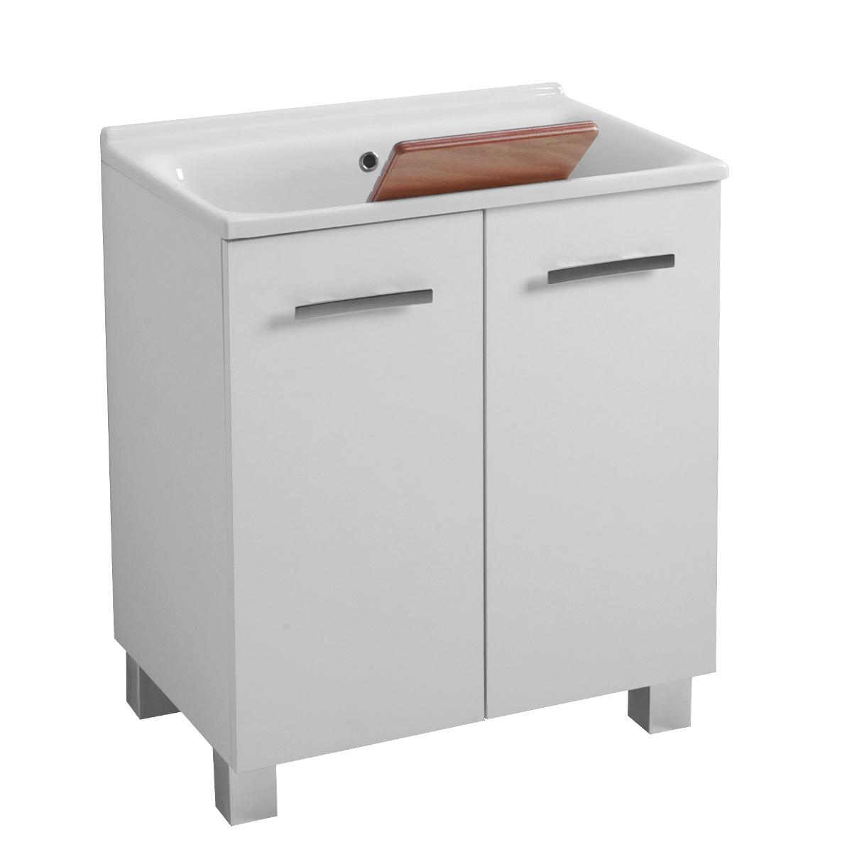 Mobile lavanderia con lavatoio e porta lavatrice su misura - Lavatoio leroy merlin ...