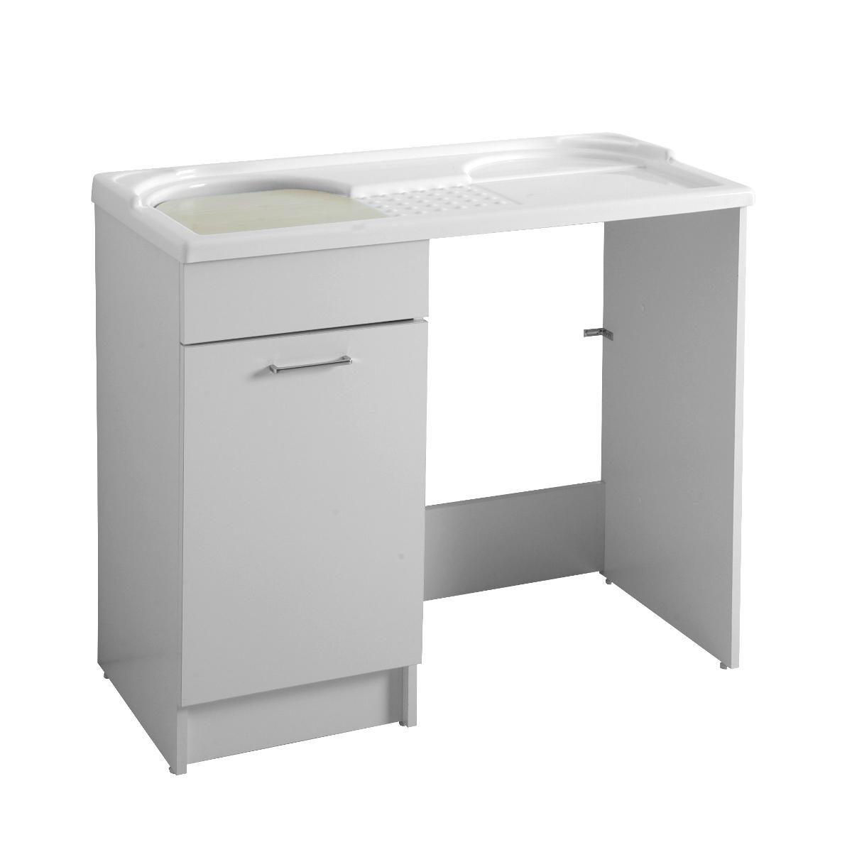 Mobile con lavatoio e porta lavatrice 106x50x89duo - Mobile bagno con lavatrice ...