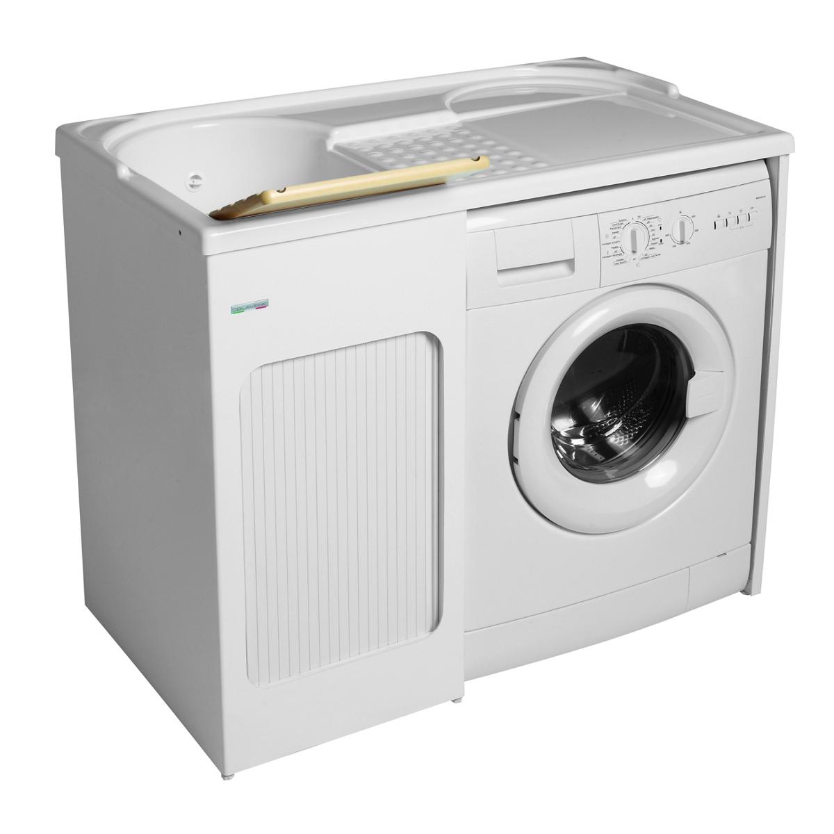 Mobile con lavabo e porta lavatrice 106x60x89 lavacril - Mobile porta lavatrice e asciugatrice leroy merlin ...