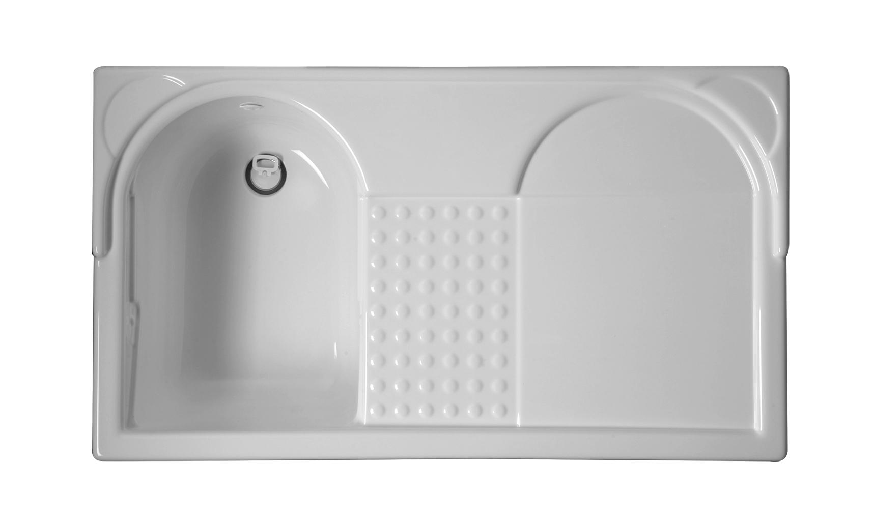 Mobile con lavabo e porta lavatrice 106x60x89 lavacril for Lavabo sopra lavatrice