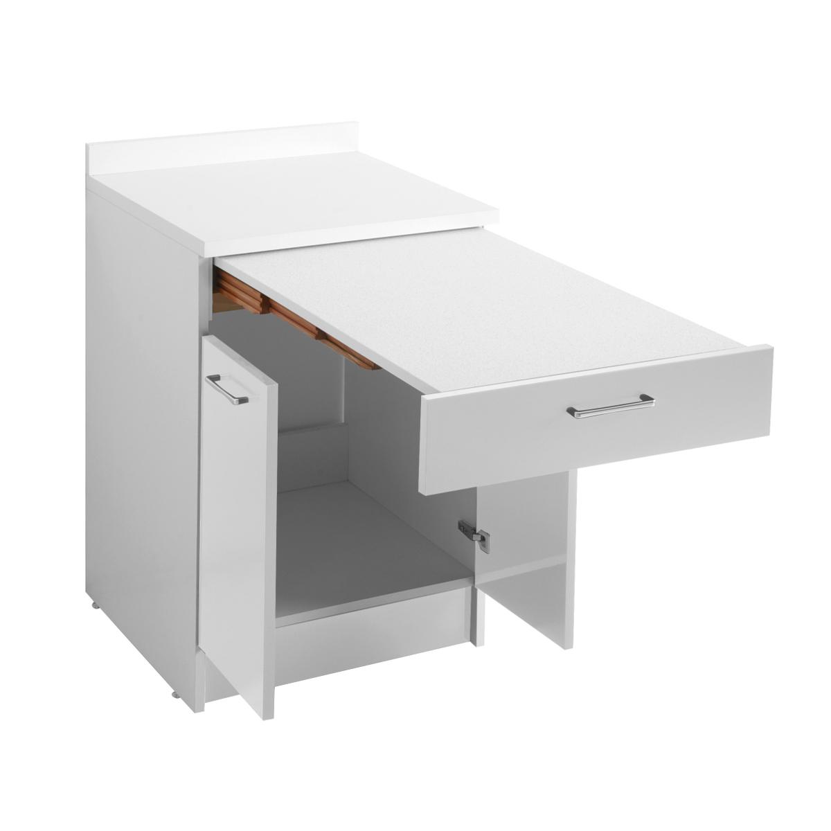 Mobile con tavolo estraibile 60x60x86 wash - Cucina tavolo estraibile ...