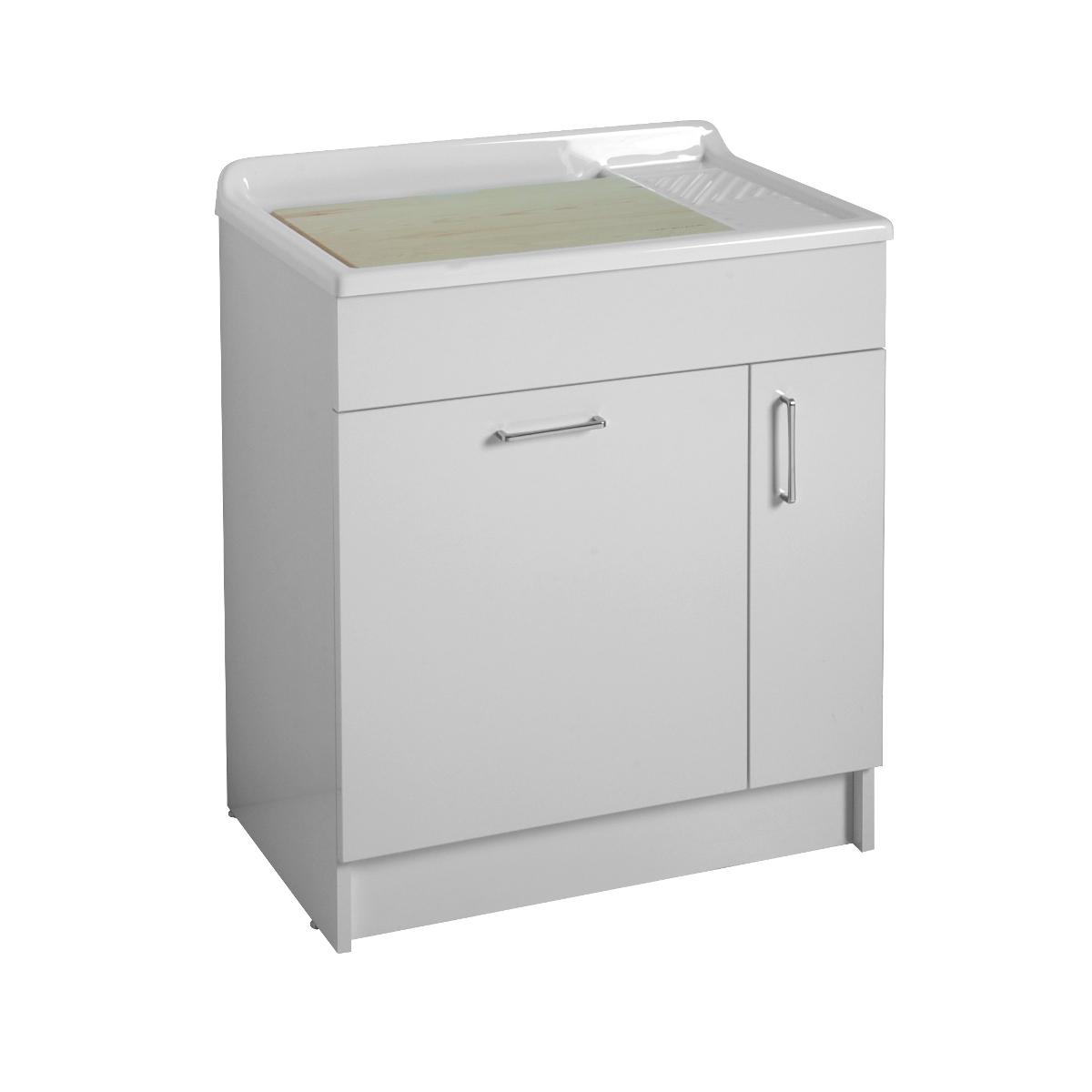 Mobile per lavabo con cesto portabiancheria 75x50x86 lindo - Mobile portabiancheria sporca ...