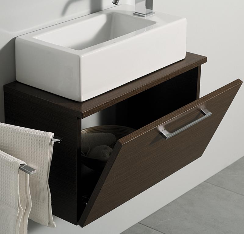 Mobile sospeso mini zen da 60 a 100 cm - Mobile bagno sospeso 60 cm ...