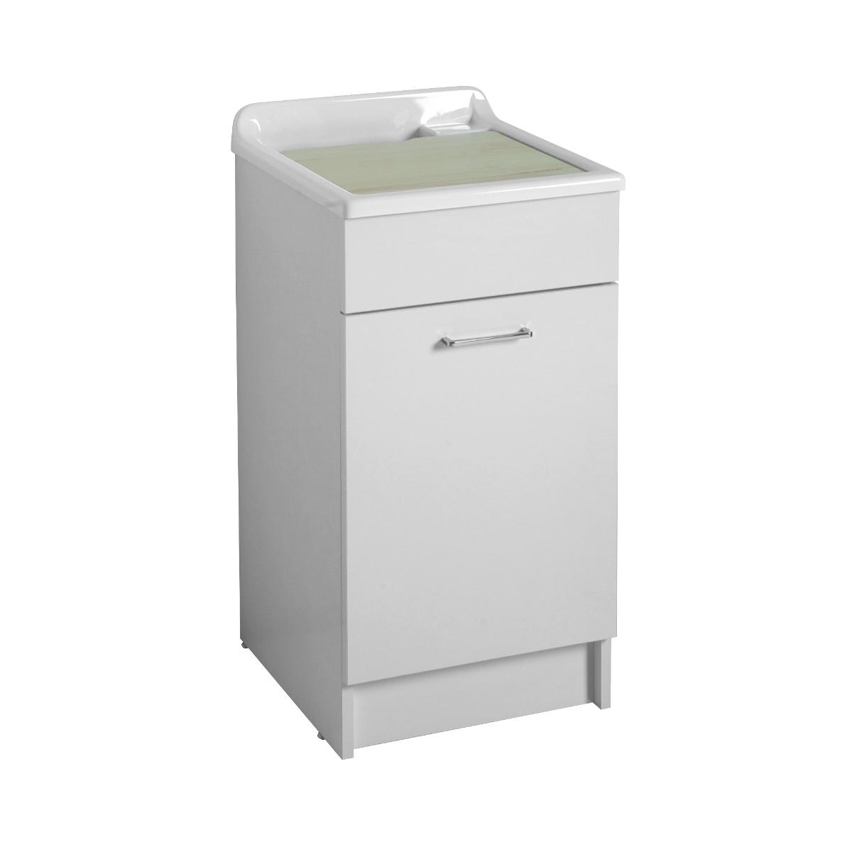Mobiletto lavanderia con lavatoio 45x50x86h swash - Lavabi con mobiletto ...