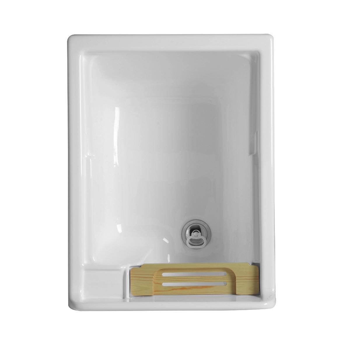 Mobiletto lavanderia con lavatoio 45x50x86h swash for Lavatoio bricoman