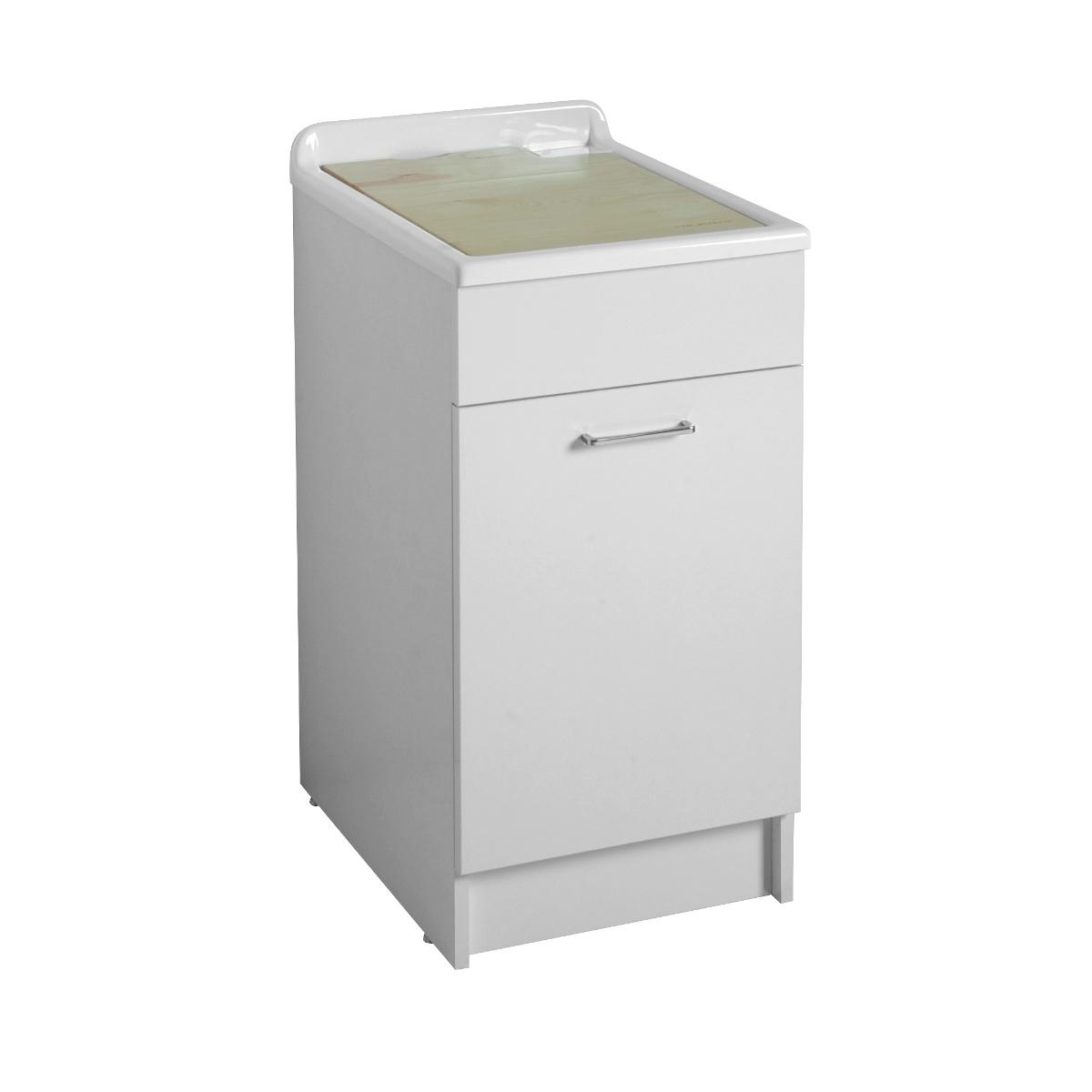 Mobiletto per lavanderia con lavatoio 45x60x86h swash - Lavabi con mobiletto ...