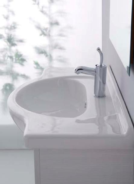 Mobile da bagno sospeso bianco rigato orchidea 85 for Costo orchidea