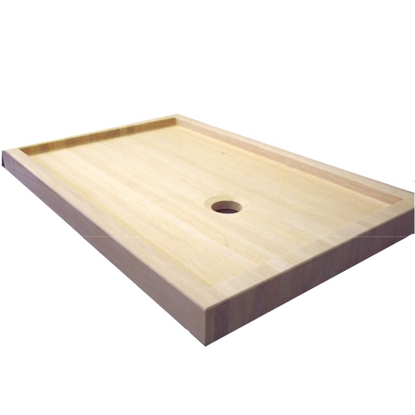 Piatto doccia rettangolare in legno