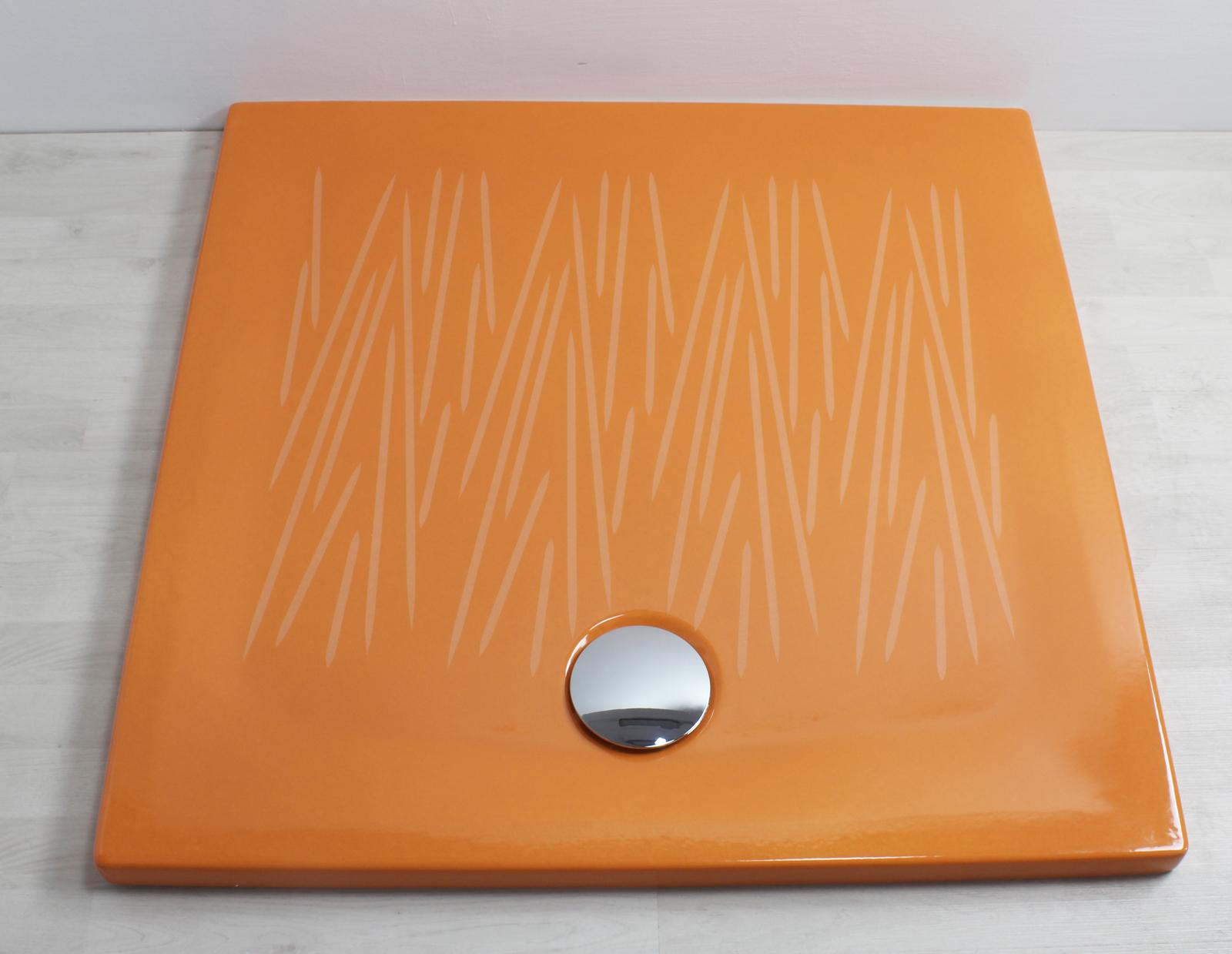 Piatto doccia filo 90x90 arancio - Piatto doccia a filo ...