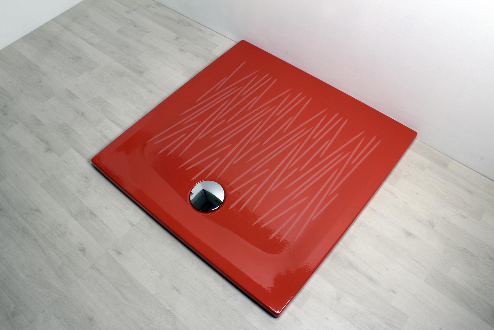 Piatto doccia filo 90x90 rosso - Piatto doccia a filo ...