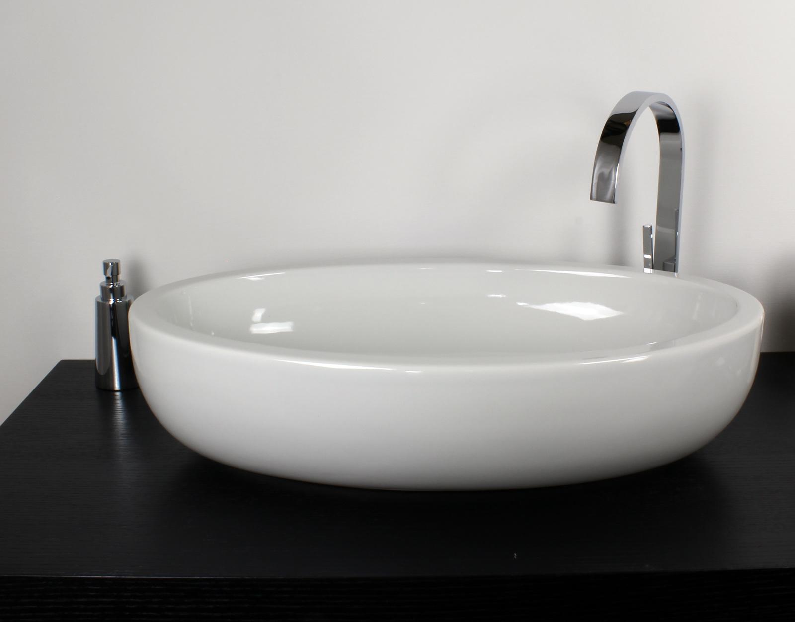 Lavabo appoggio 66x39 cm planet - Lavabi bagno appoggio ...