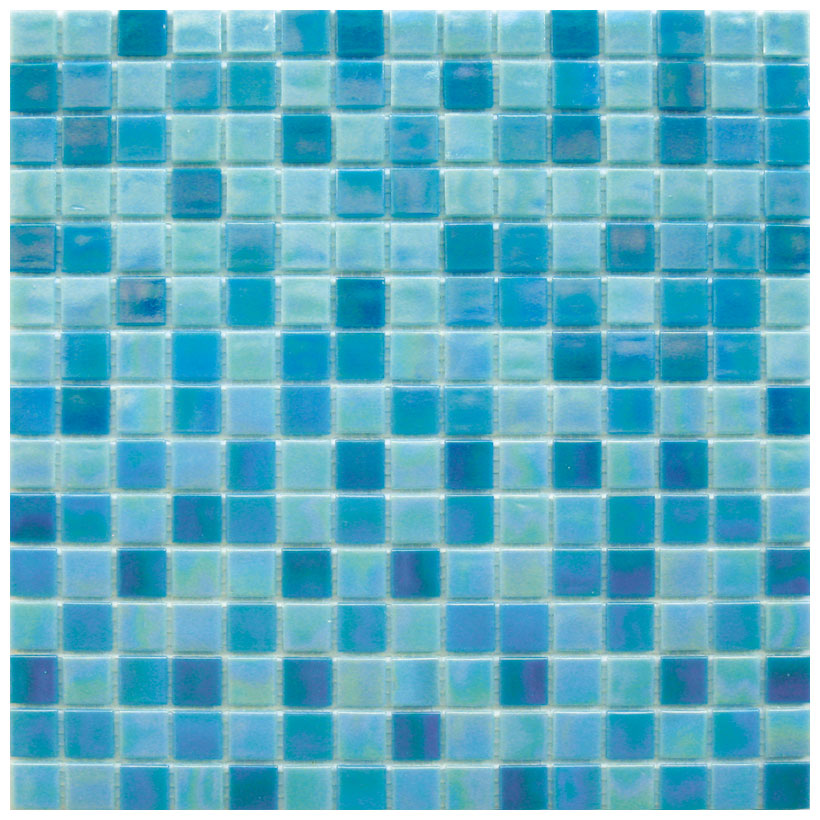 Mosaico glass classic mix reflex blu for Piastrelle per piscina prezzi
