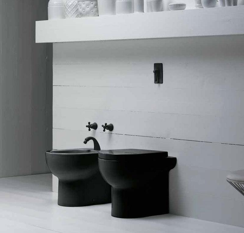 Sanitari bagno colore nero nuvola - Accessori bagno colorati ...