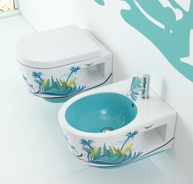 Sanitari bagno sospesi urban oasis for Sanitari bagno