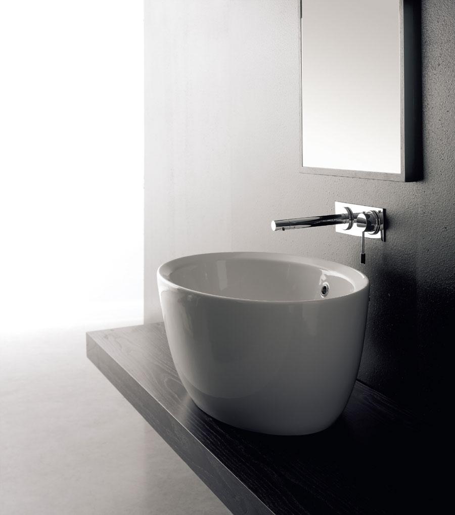 Lavabo bagno da appoggio matty ovale for Lavabo appoggio bagno
