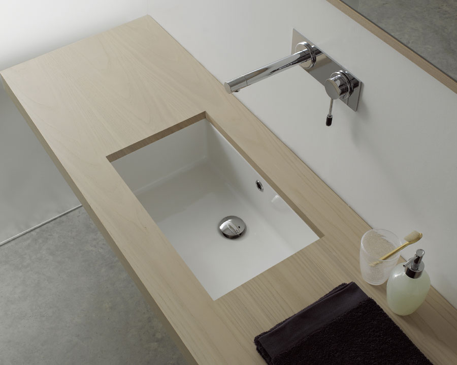Lavabo miky 56 7x30 5 cm - Lavandino da incasso bagno ...