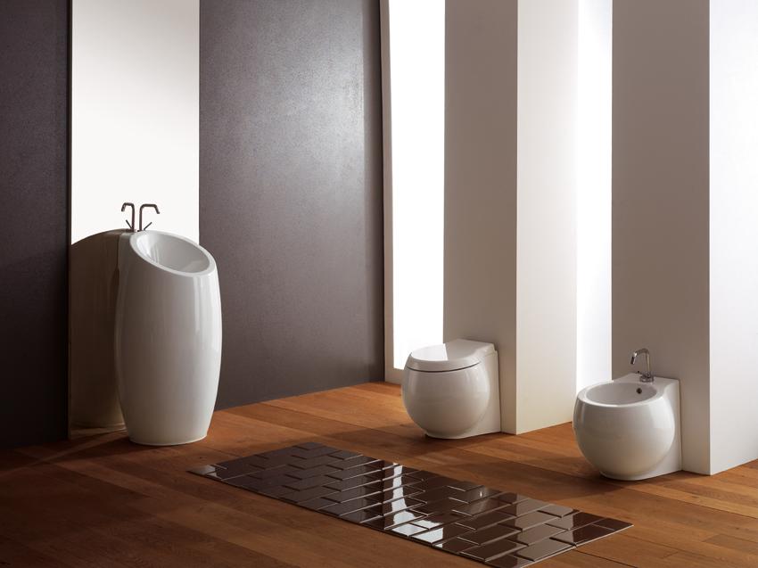 Serie sanitari planet con lavabo a terra - Costo sanitari bagno completo ...