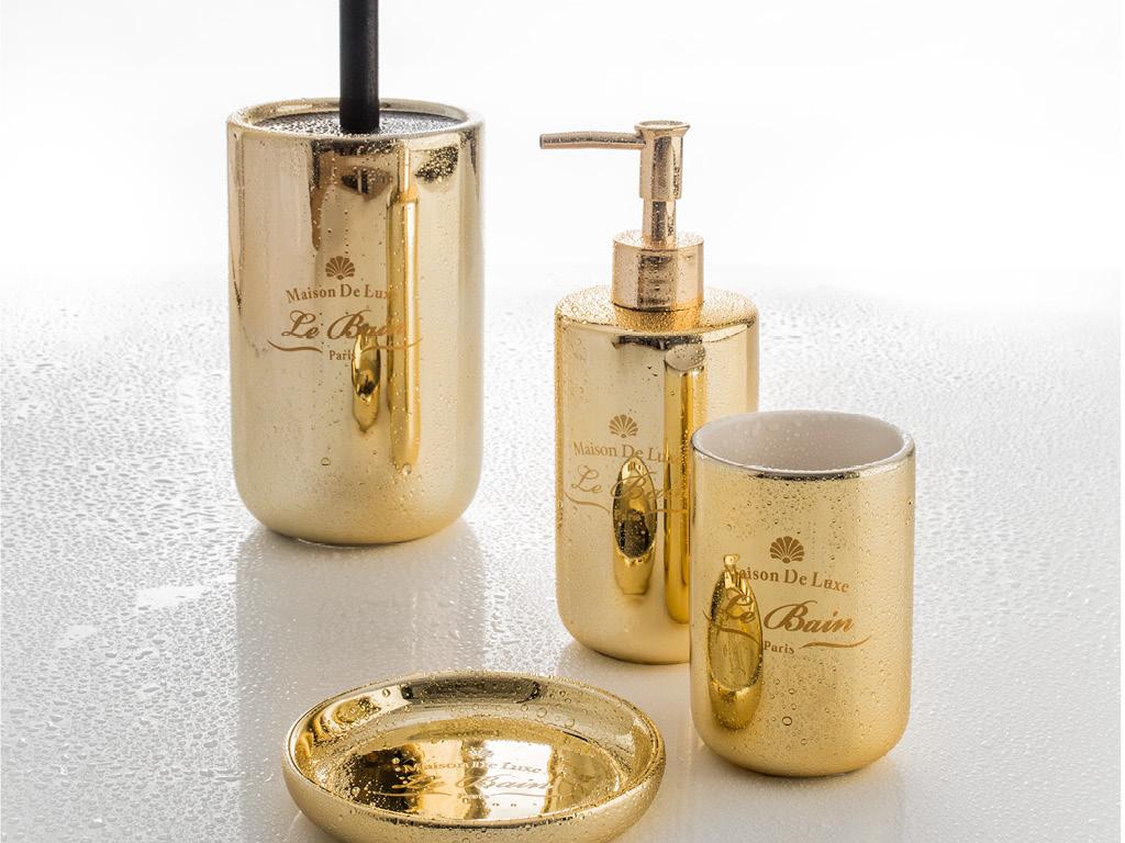Set completo accessori bagno alchimista gold