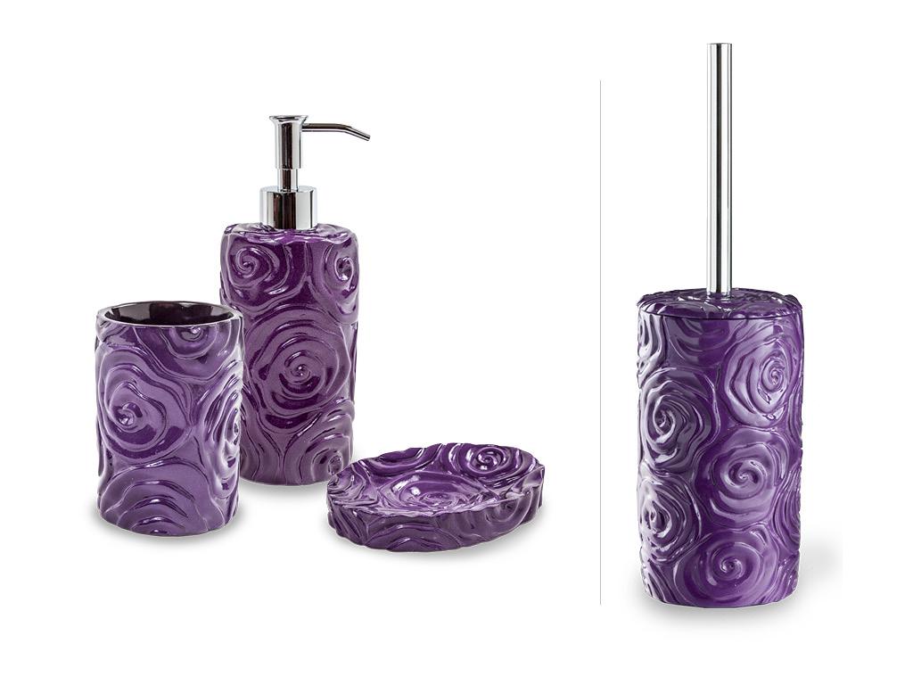 Set accessori baccarat viola - Accessori bagno viola ...