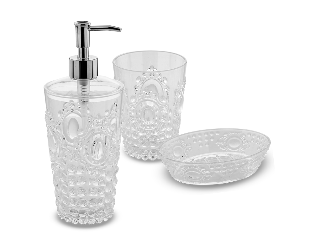 Set accessori per bagno Jolie Clear