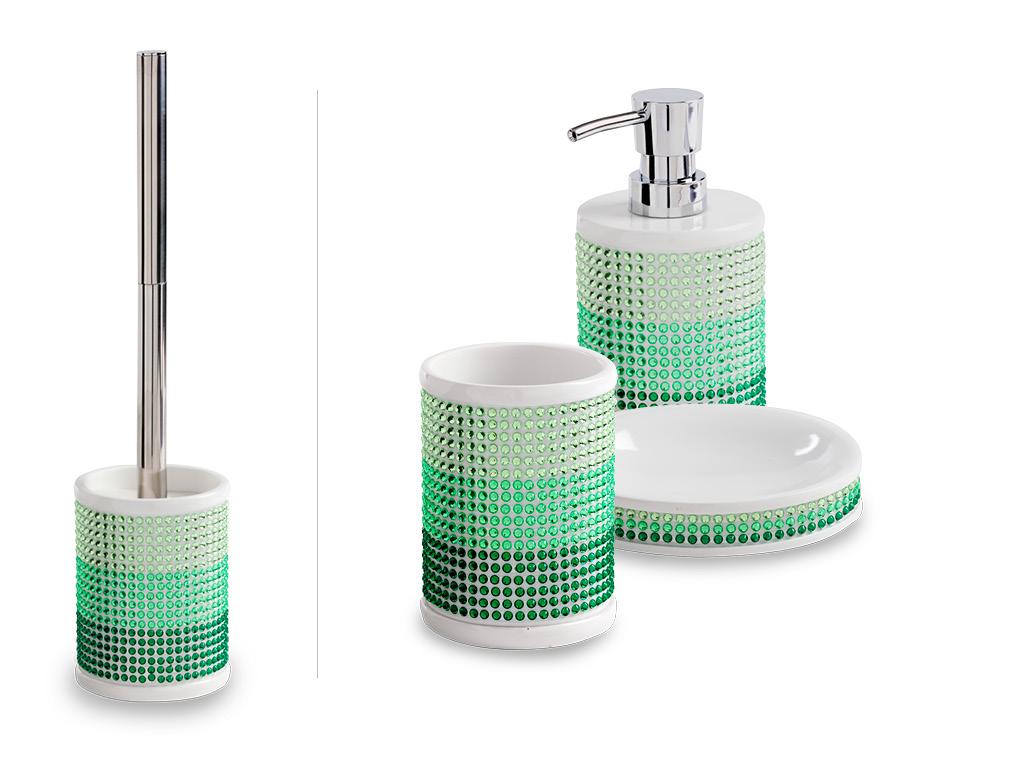 Set accessori da bagno princess verde