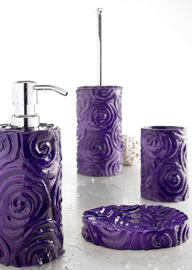 set accessori baccarat viola - Arredo Bagno Viola