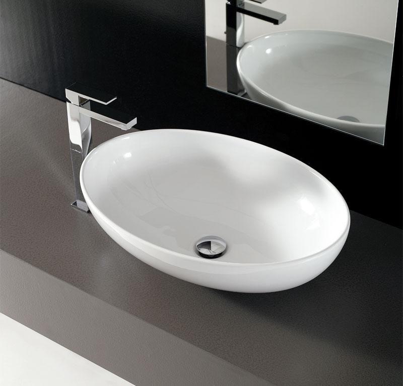 Lavabo ovale softly 59x42 cm - Lavandini da incasso bagno ...