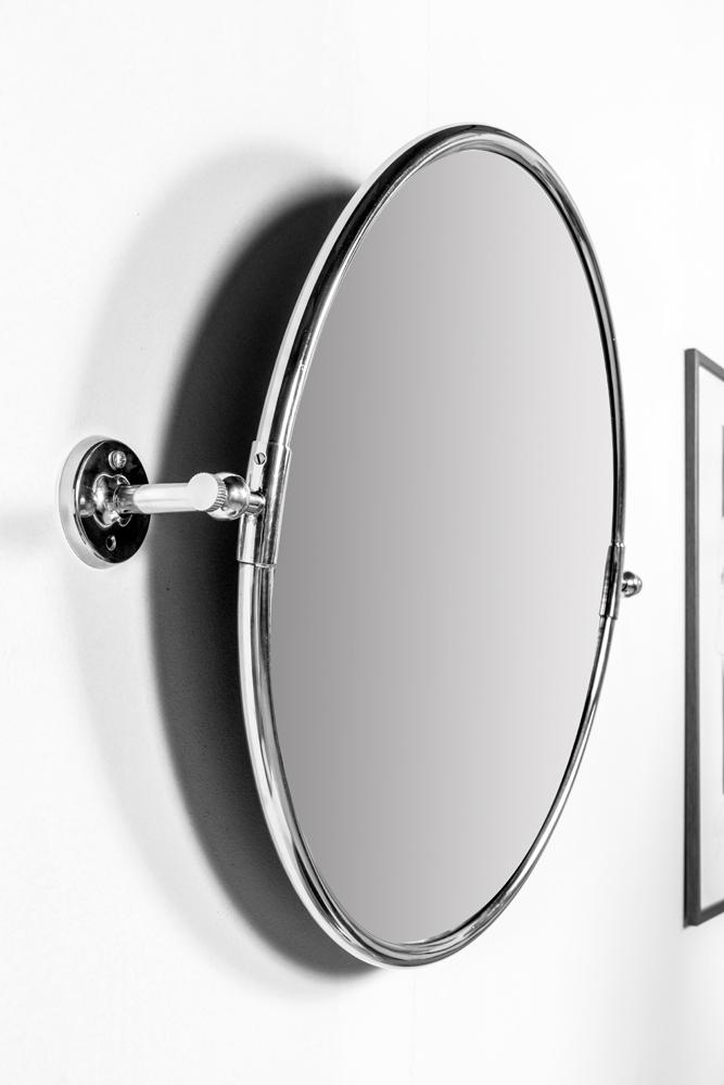 Specchio rotondo da bagno the club round 56 cm for Specchio bagno profilo alluminio