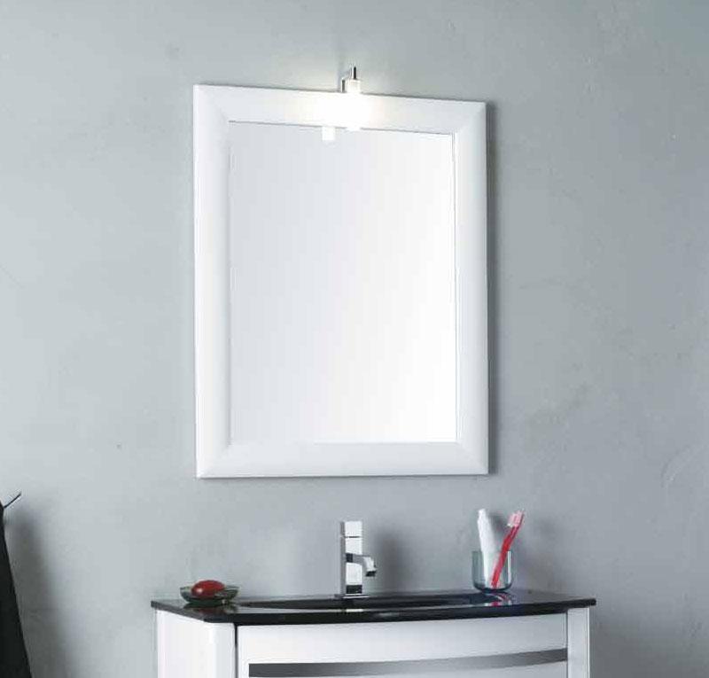 Specchio Bagno Bianco.Specchio Bianco Lucido Zeus