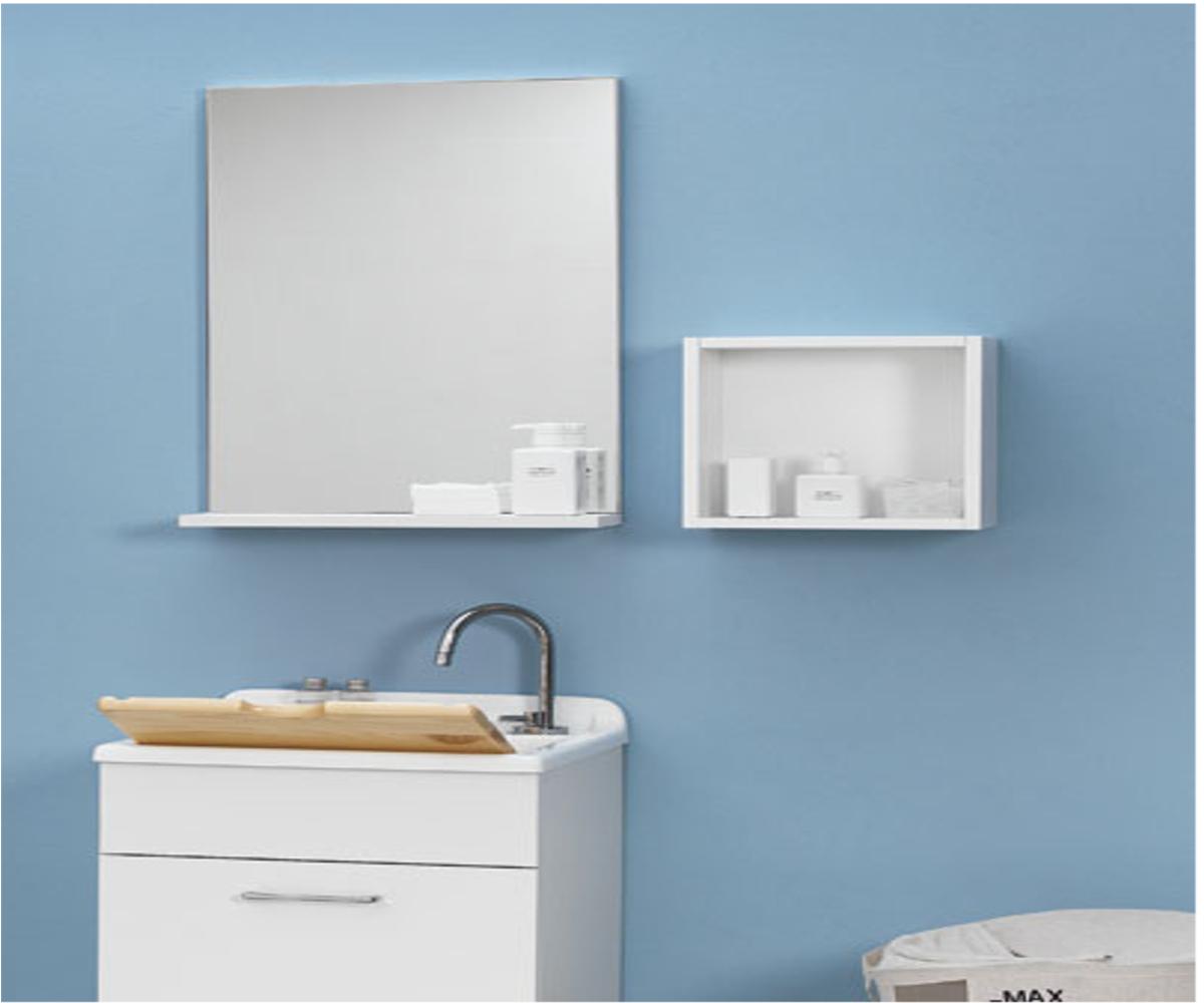 Specchio con mensola 75x14x70 jolly - Specchio con mensola bagno ...