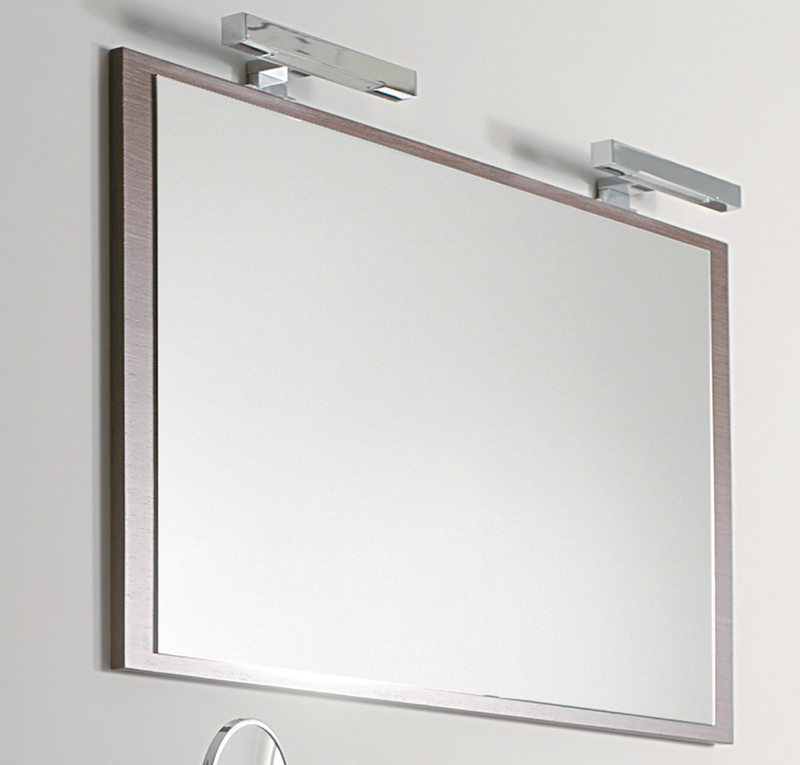 Specchio retrolegno 120x65 cm - Specchio angolare per bagno ...
