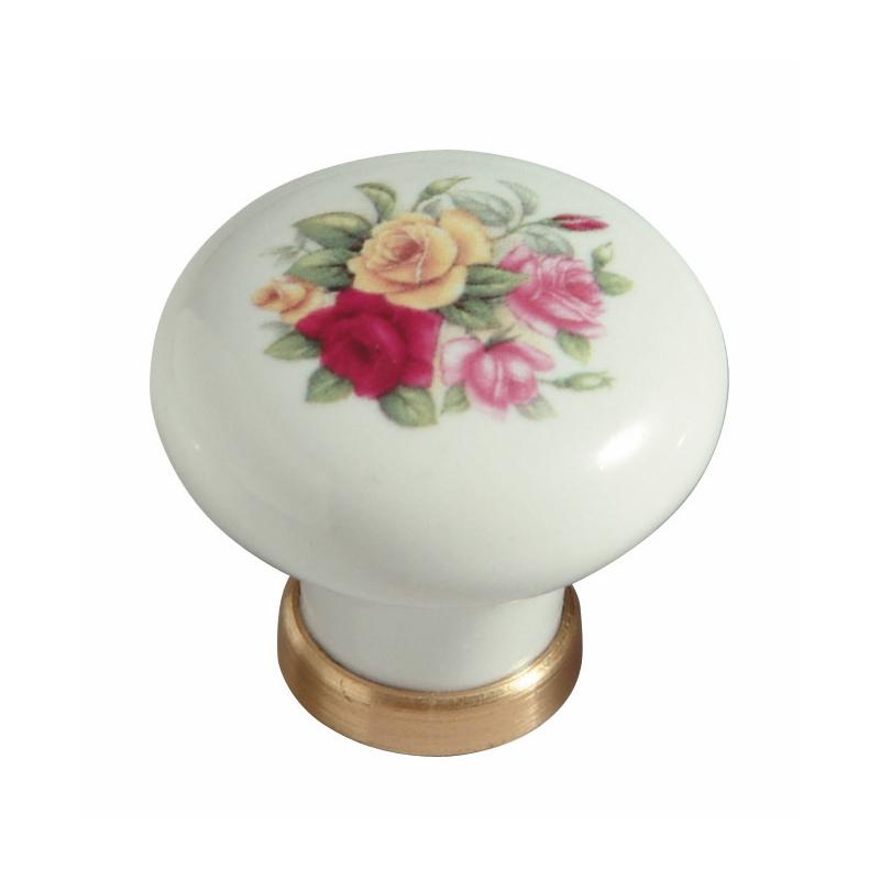 Pomello in ceramica 31 con roselline - Pomelli ceramica per cucina ...