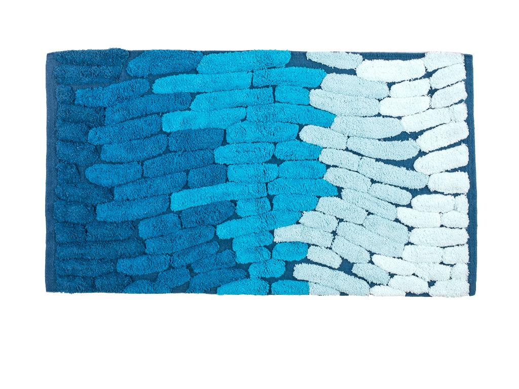 Tappeto per bagno trace blu 50x80 - Tappeto bagno blu ...