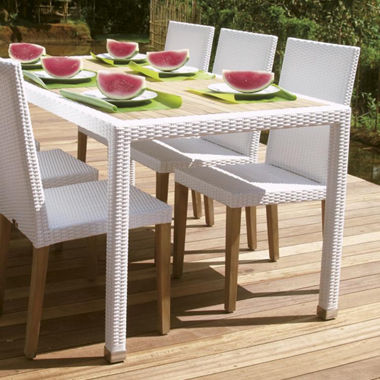 Tavolo per esterno ocean for Sedie tavolo esterno