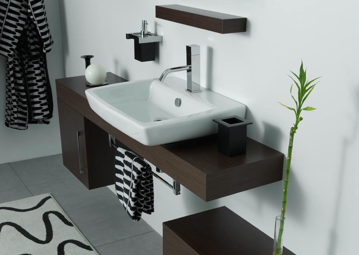 Piano per lavabo top h10 cm slim
