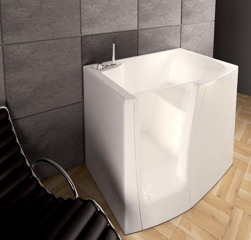Vasca seduta e porta laterale - Vasca bagno con porta ...