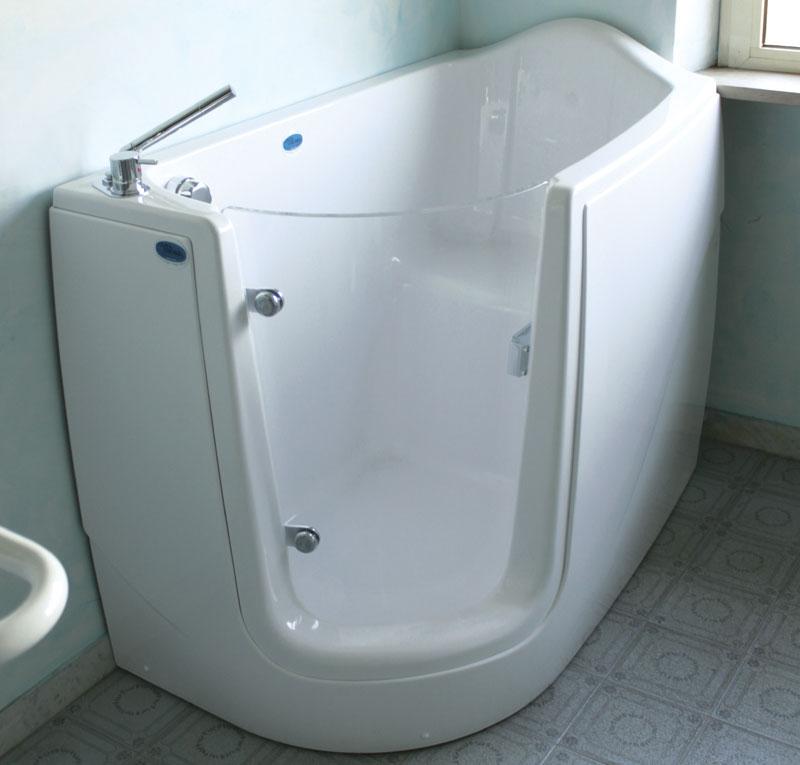 Vasca porta angolare trasparente - Porta bagno disabili ...