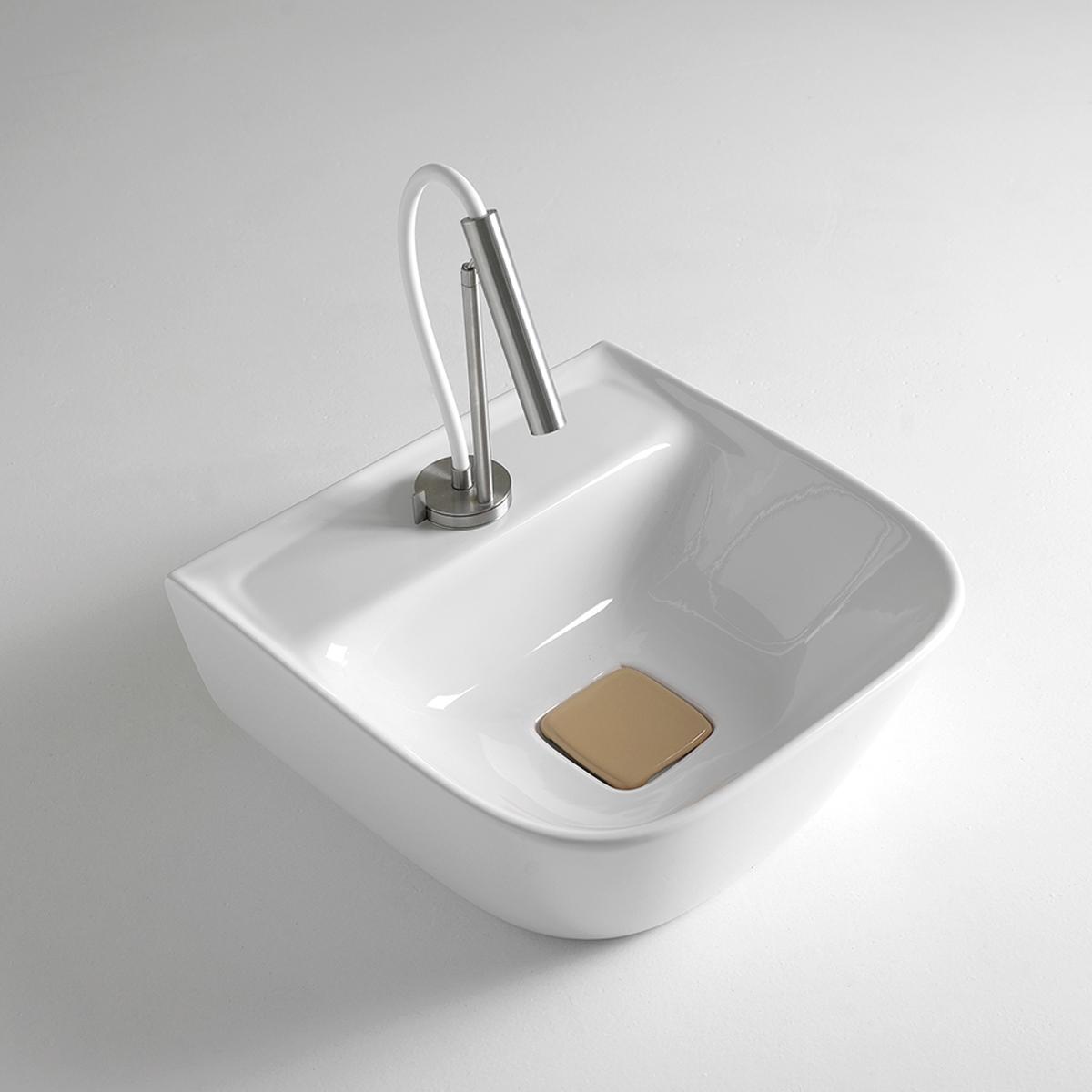 lavabo appoggio in ceramica soft