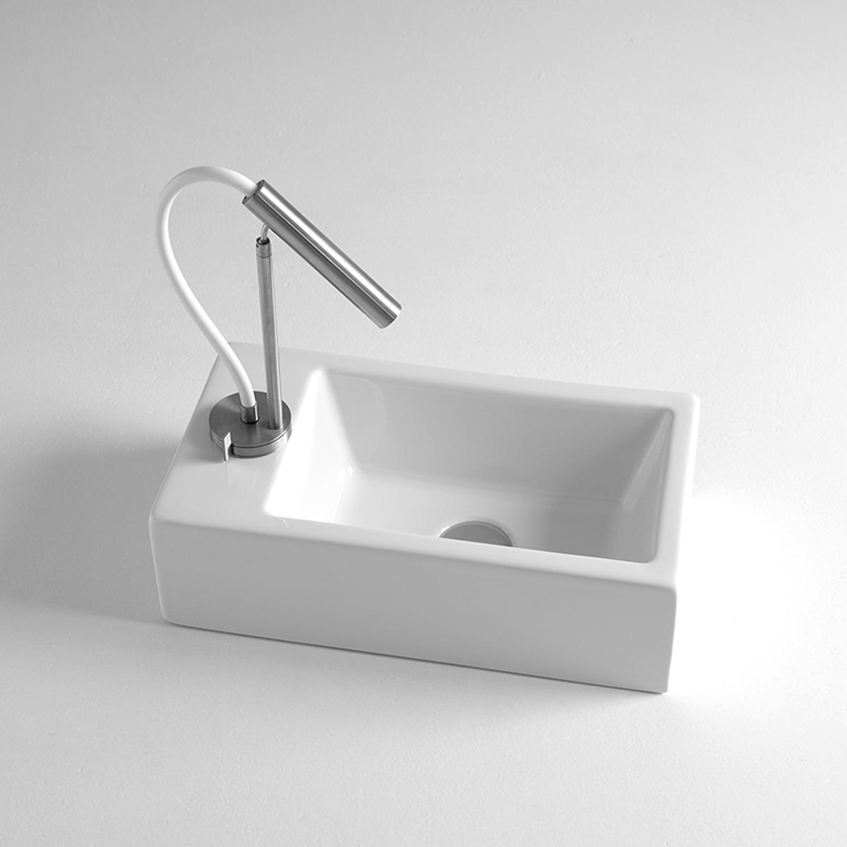 Mini lavabo bagno 24x44 cm - Bagno largo 110 cm ...